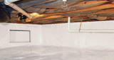 Crawl space moisture control and structural repair in Greater Clearfield