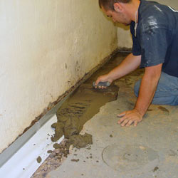 Testing a French drain system in a Pennsylvania Furnace home.