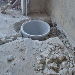 Placing a sump pit in a Curwensville home