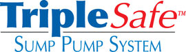 Sump pump system logo for our TripleSafe™, available in areas like Hastings