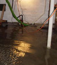 Several feet of floodwaters in a West Decatur basement