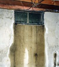 Flooding through basement windows in a Cherry Tree home.