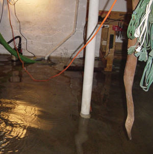 Foundation flooding in a Brockway,Pennsylvania home