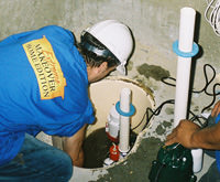 installing a sump pump and backup sump pump system in Woodland, PA
